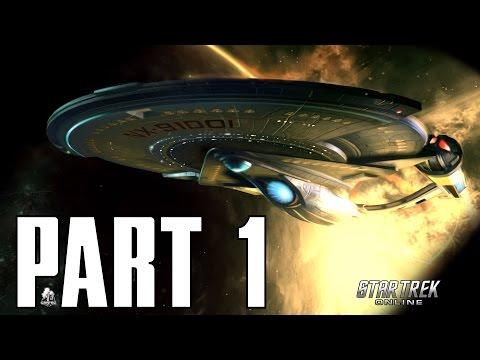 BEAM ME UP SCOTTY! Star Trek Online - Tutorial INTRO - Part 1 Lets Play Walkthrough (PS4 XBOX PC HD)