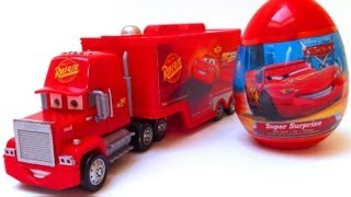 Disney Pixar Cars 2 Mack truck + Kinder surprise egg unwrapping