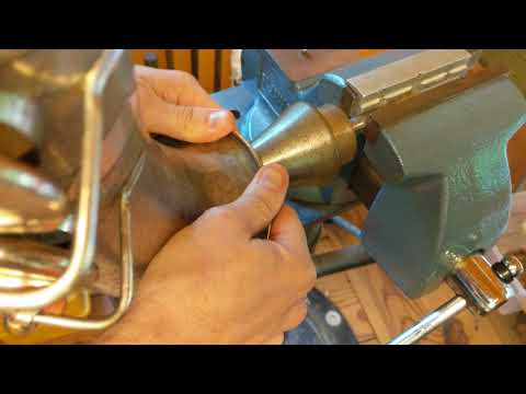 Saxophone Repair Topic: Repairing Some Typical Long Term Damage On An Old Selmer Tenor, Part 1