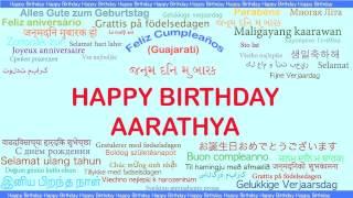 Aarathya   Languages Idiomas - Happy Birthday