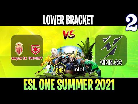 VOD: AS Monaco Gambit vs ViKin.gg-ESL One Summer 2021-G2