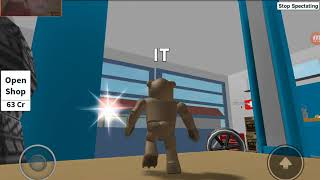 Playing hide and seek on roblox with Evster326