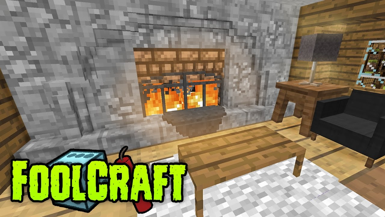 foolcraft modded minecraft custom fireplace youtube