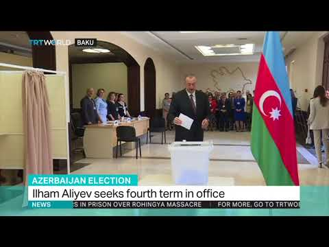 Azerbaijan's Ilham Aliyev seeks fourth term in the office