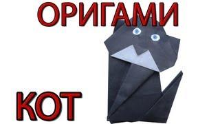 Оригами кот | Как сделать кота из бумаги