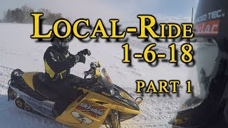 Local Ride Monroe County, NY Snowmobiling 1-6-18: PART 1