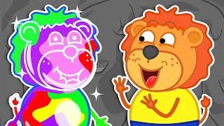Lion Family 🍒 Journey to the Center of the Earth 13. Rainbow Game | Cartoon for Kids