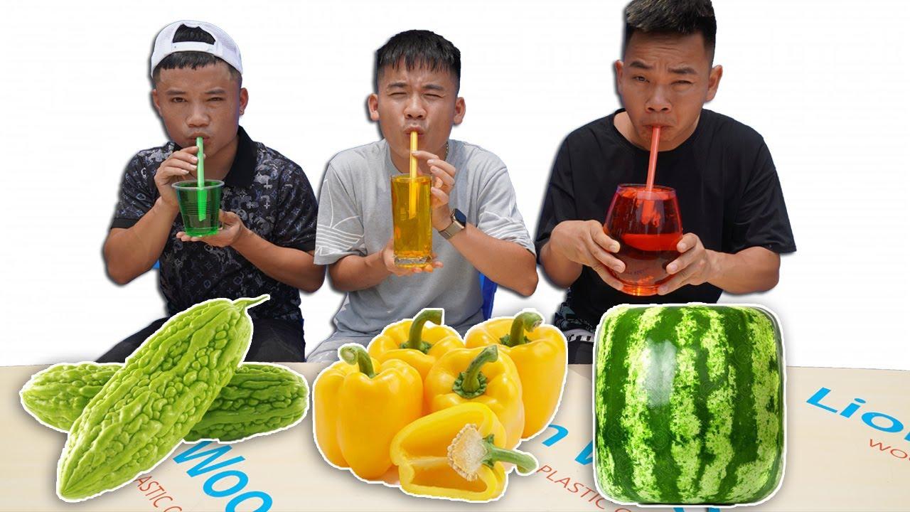 Hưng Troll | Thử Thách Người Cuối Cùng Ngừng Uống Các Loại Nước Ép Hoa Quả Thắng Nhận 5 Triệu
