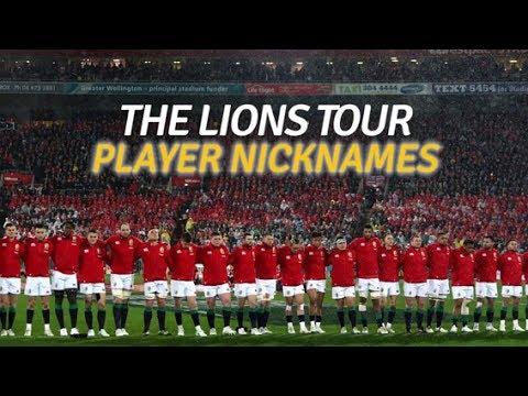 The brilliant nicknames of the British and Irish Lions 2017
