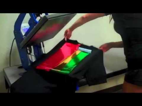 T Shirt T Shirt Foil Printing Application Tutorial