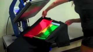 "T shirt / t-shirt Foil printing Application Tutorial - Anajet Direct to Garment Printer ""DTG"""
