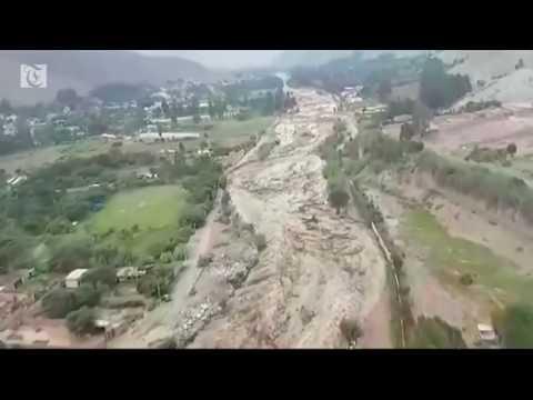 River of mud traps woman in Peru