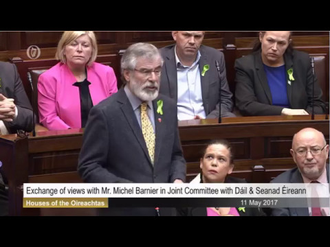Michel Barnier Address to Joint-Oireachtas sitting