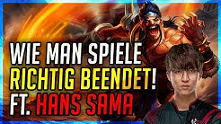 1300LP Challenger Hans Sama! Wie man Spiele richtig beendet! [League of Legends]