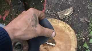 Усовершенствование диска триммера (бензокосы). Сделай Сам!(Простая доработка диска триммера и он легко пилит тонкие деревья., 2014-05-03T17:50:33.000Z)