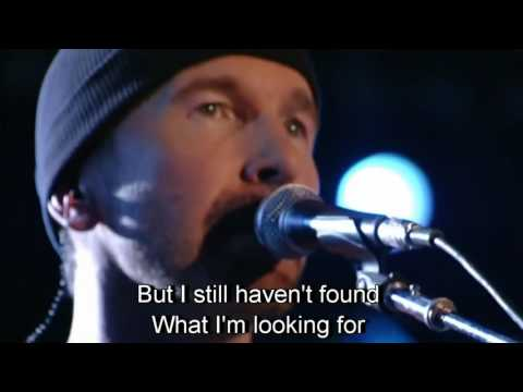 I Still Haven't Found What I'm Looking For  by Bono with U2   in Italy  with Lyrics