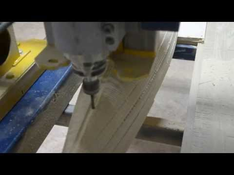Полу-чистовая обработка поверхности мастер-модели радиоуправляемой яхты