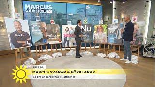 Marcus utser bästa - och sämsta - valaffischerna - Nyhetsmorgon (TV4)