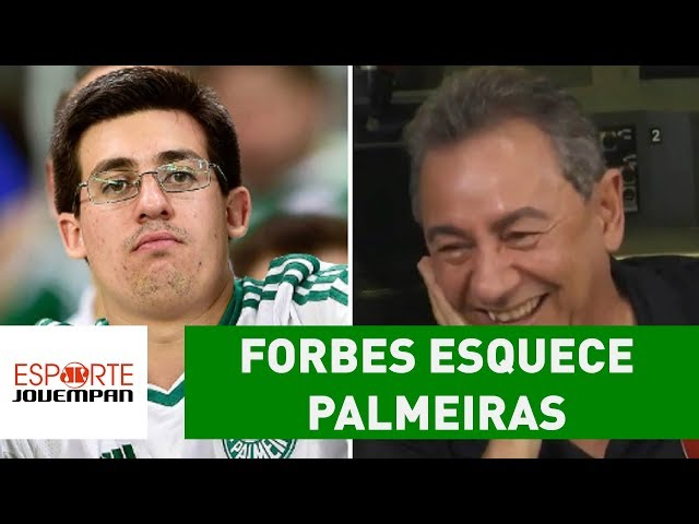 GAFE! Forbes esquece Palmeiras em lista de mais valiosos!