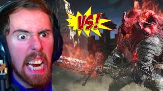 Asmongolds BIGGEST BLOWUP Fighting Midir and Slave Knight Gael in Dark Souls 3