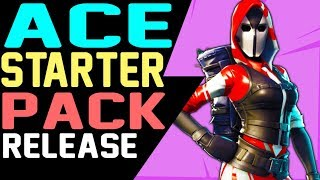 Fortnite ACE STARTER PACK 3 RELEASE DATE & TIME and How to Get the ACE SKIN and Swag Bag