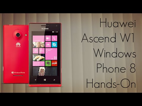 Huawei Ascend W1 Windows Phone 8 Device Hands-On