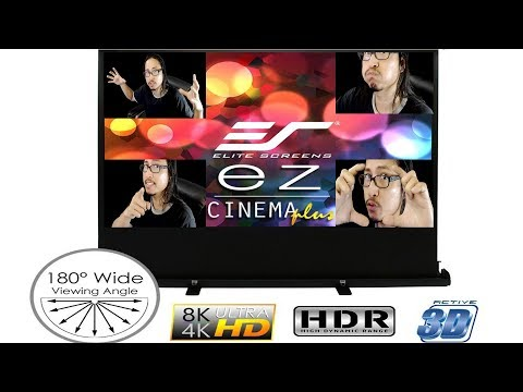 Elite Screen EZ Cinema Series Plus - The Best Portable Screen Projector?