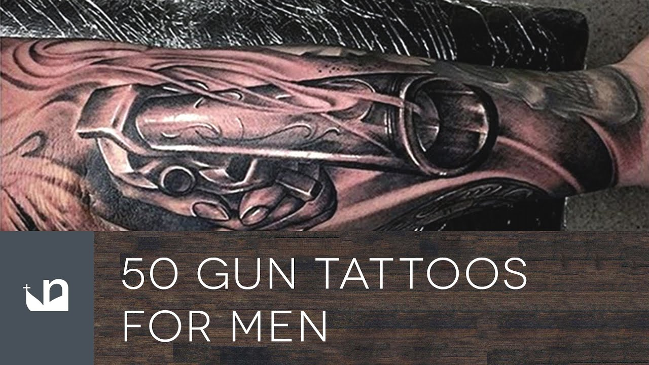 50 gun tattoos for men youtube. Black Bedroom Furniture Sets. Home Design Ideas