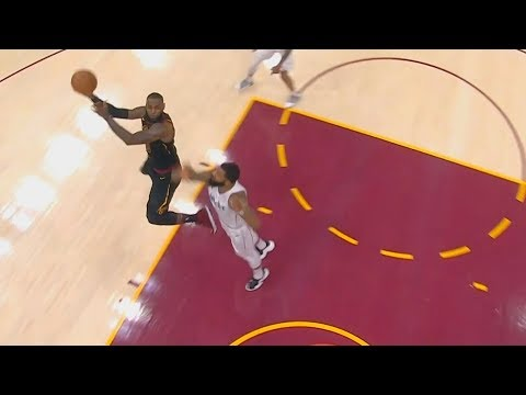 LeBron James MAKES IMPOSSIBLE SKY HOOK SHOT!!!