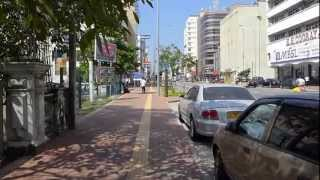 Walking on the streets of Colombo Sri Lanka (Galle Rd) ,ready for CHOGM 2013