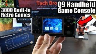 Q9 Handheld Game Console REVIEW: 3000 Classic Retro Games!