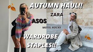 WHAT'S NEW IN MY WARDROBE!! ZARA HAUL, ASOS, MOTEL ROCKS