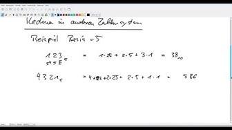 Anderes Zahlensystem, Beispiel 5er System