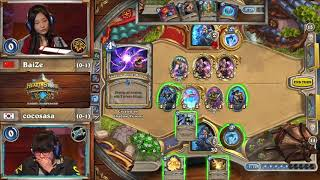 [Hearthstone]cocosasa vs BaiZe - HCT Summer Championship Group D