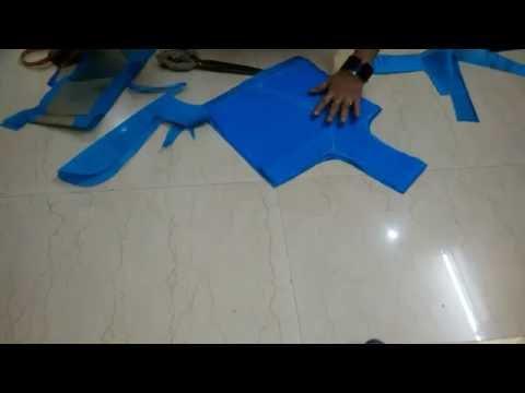 Princes cut blouse cutting (प्रिन्सस कट ब्लाउस की कटिंग )