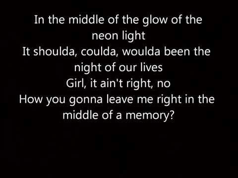 Cole Swindell Middle Of A Memory Lyrics