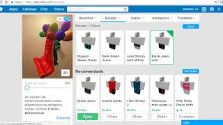 Showing my avatar items on Roblox