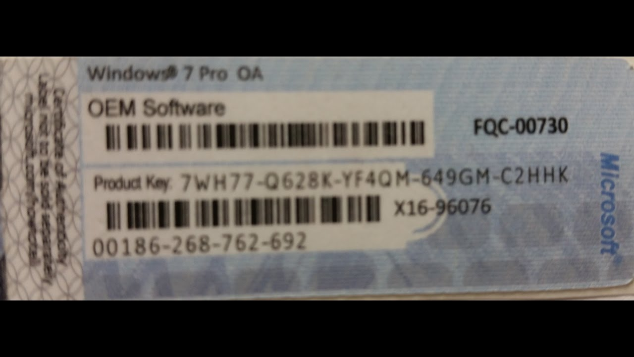 windows 7 professional key free