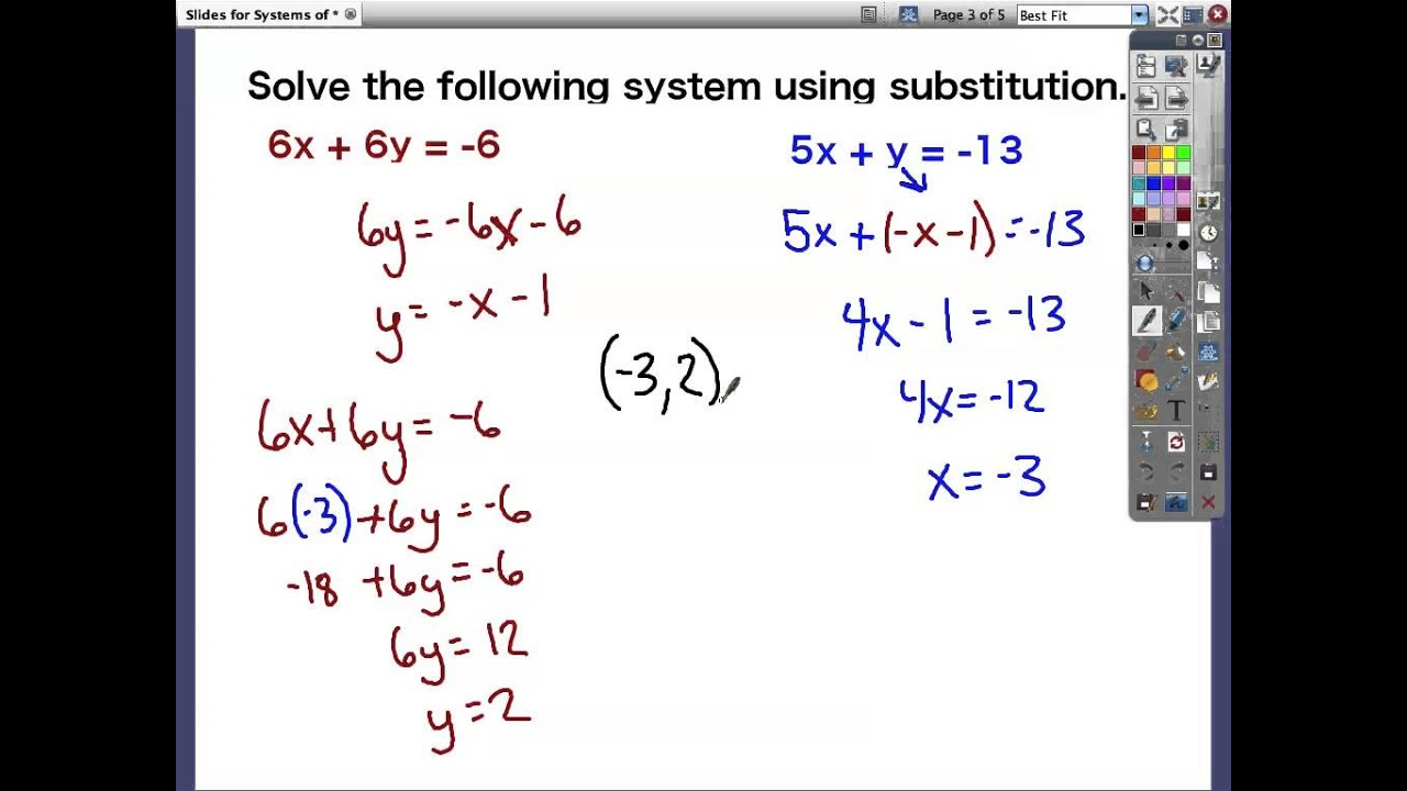 worksheet Systems Of Equations By Substitution systems of equations c substitution method youtube method