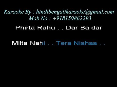 Phirta Rahoon Dar Badar - Karaoke - The Killer (2006) - KK, Shreya Ghoshal