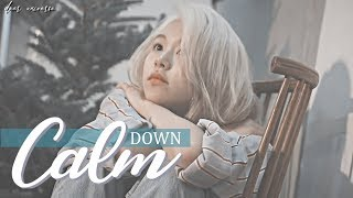 chaeyoung; ❝ calm down ❞