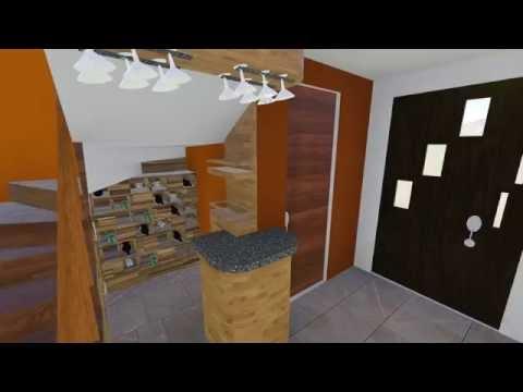 Diseño interior cocina, sala y comedor