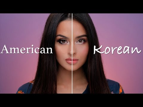 American VS Korean Makeup Tutorial