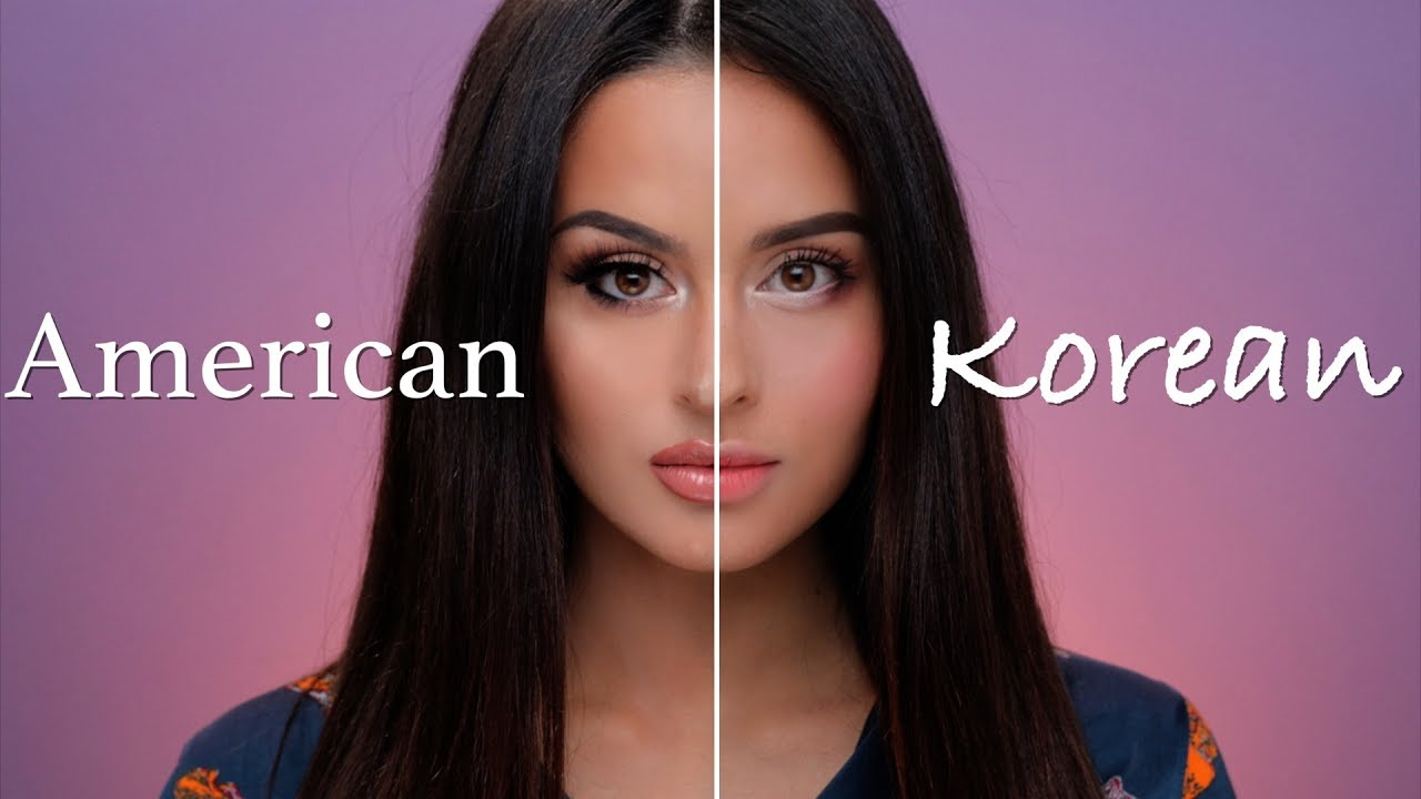 American VS Korean Makeup Tutorial - YouTube