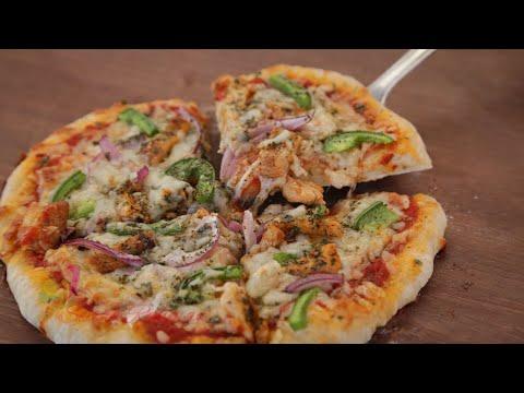 ক্ল্যাসিক পিৎজা রেসিপি | Hand Tossed Pizza Recipe | Chicken Pizza Recipe | Easy Pizza Dough