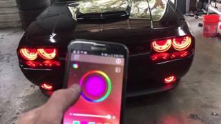 Dodge Challenger Halo lights underbody neon installation