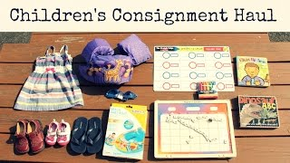Children's Consignment Haul | Swimming Gear & Learning Activities