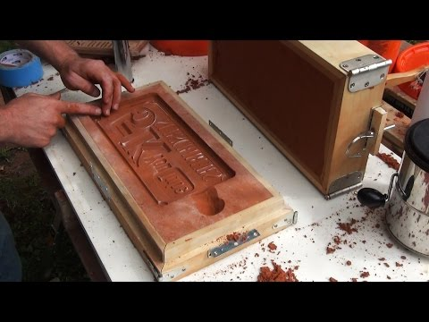 Casting an Aluminum Sign, Sand Molding and Finishing | 5k Part 2
