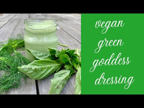 how to make vegan green goddess dressing (a.k.a. NO buttermilk ranch dressing)