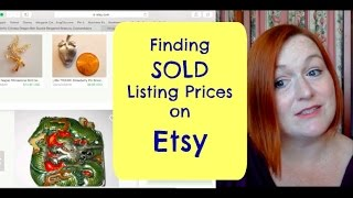 How to Find SOLD Listing Prices on Etsy(Ever find a cool vintage item and the only one research brings up is one that sold on Etsy? Here's how you find the sold price!, 2015-07-09T15:49:06.000Z)